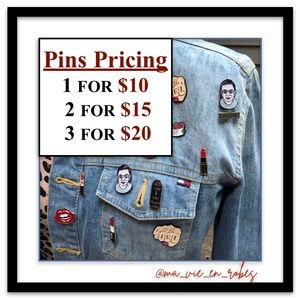 PINS! Your Lapel, Jacket, Bag—They All Want Pins!
